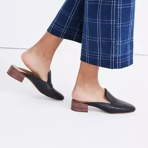 Madewell black leather Willa loafer mules